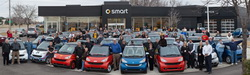 large smart car gatherings & celebrations