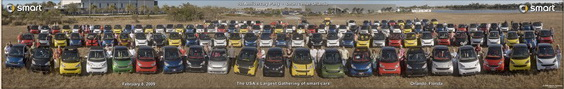 122 smart cars in orlando, florida