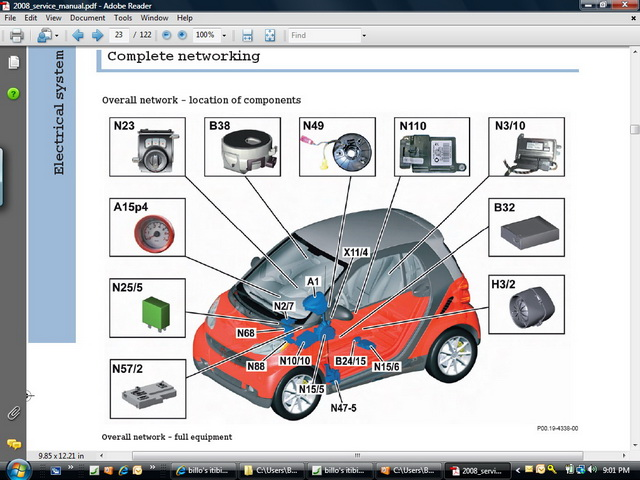 2008 smart fortwo technical service manual