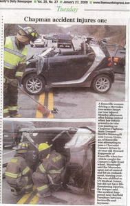 smart cabriolet roll-over accident!
